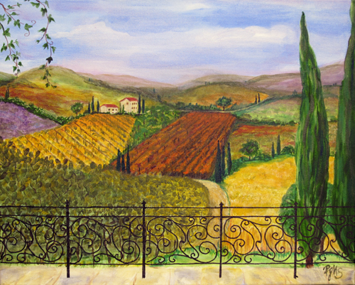 Tuscan Landscape Study